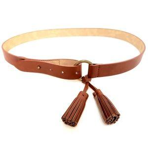 GAP | Vegan Leather Belt w Tassel Accent